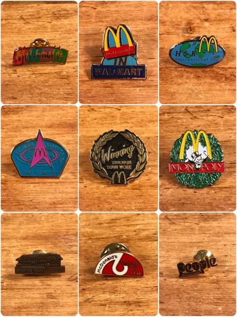Vintage McDonald's Metal Pins (2)