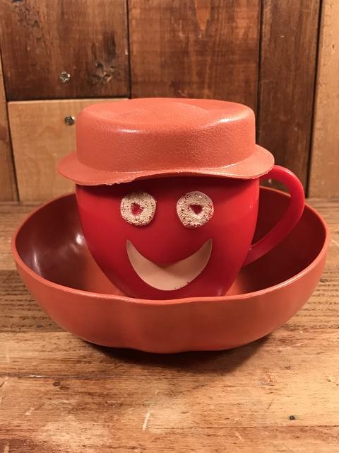 """Vintage Kellogg """"Apple Jacks"""" Plastic Cereal Bowl & Mug (6)"""