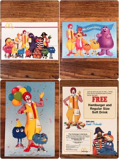 Vintage McDonald's Character Postcard & Flier