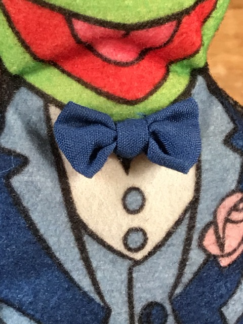 """Vintage The Muppet Show """"Kermit The Frog"""" Mini Cloth Doll (19)"""