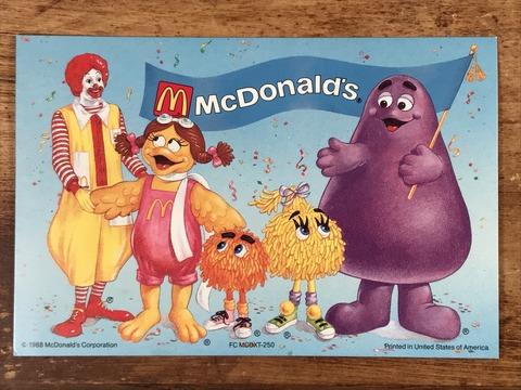"Vintage McDonald's ""Ronald & Fry Kids"" Postcard (4)"