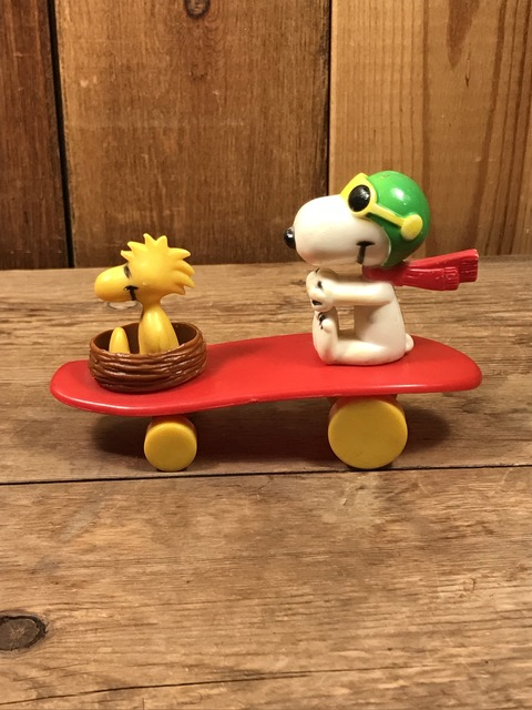 Vintage Aviva Snoopy & Woodstock Skateboard Toy (29)