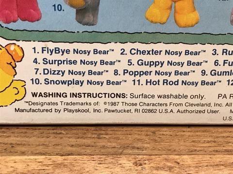 "Vintage Playskool Nosy Bears ""Hot Rod Nosy Bear"" Plush Doll"