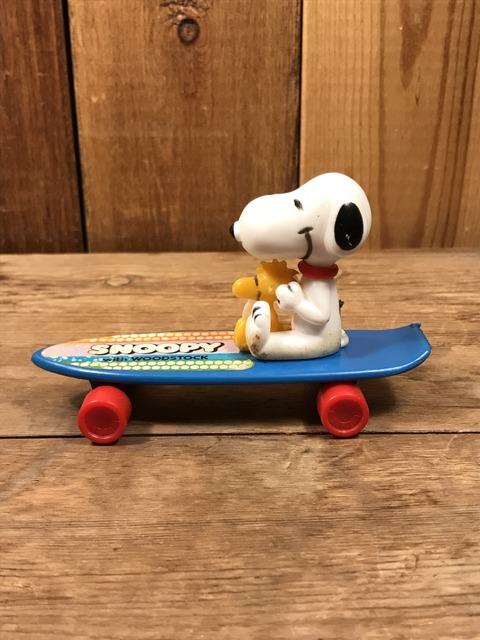 Vintage Aviva Snoopy & Woodstock Skateboard Toy (4)