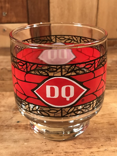 """Vintage Dairy Queen """"Stained Glass"""" Glass Cap (1)"""