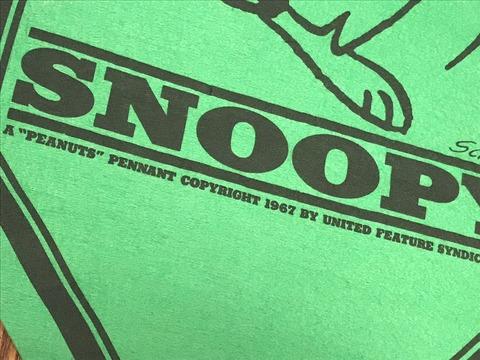 """Vintage Peanuts Snoopy """"I've Got To Start..."""" Felt Banner (12)"""