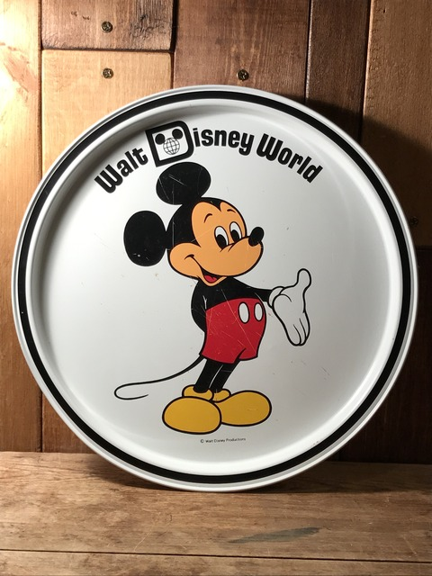 vintage disney world mickey mouse metal tray (106)