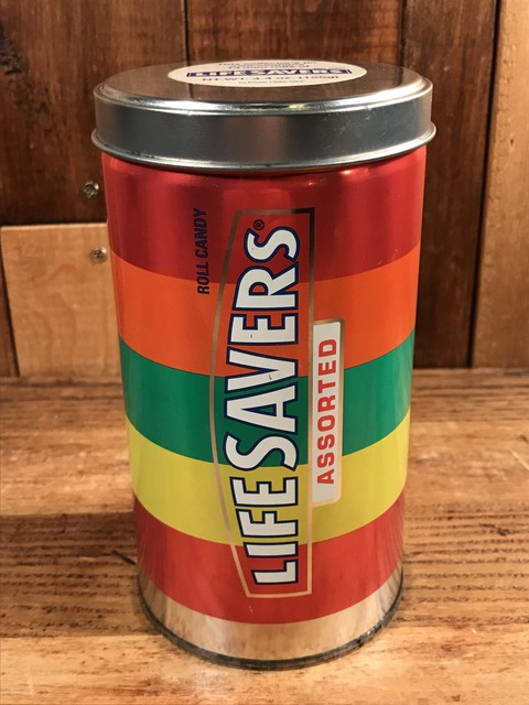 Vintage Life Savers Roll Candy Tin Can (1)