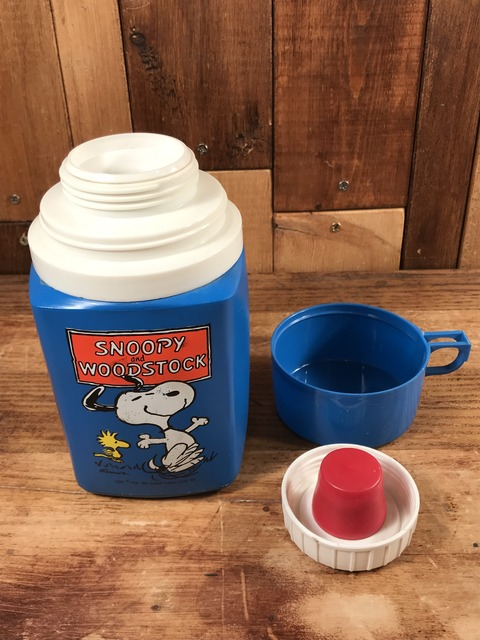 Vintage Thermos Peanuts Snoopy & Woodstock Thermos Bottle (20)
