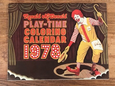 "Vintage Ronald McDonald Play-Time ""1978"" Coloring Calendar (6)"