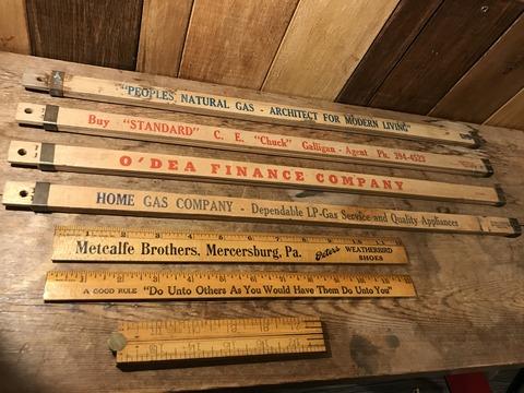 vintage advertising wood yard stick (39)