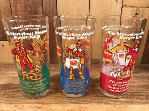 Vintage The Marvelous Magical Burger King Glass