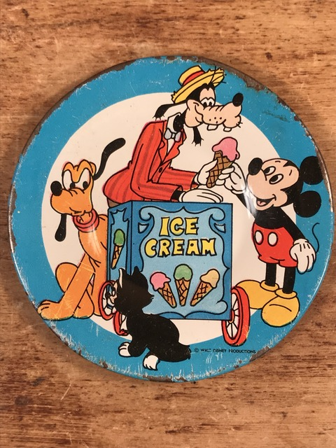 "Vintage Disney ""Ice Cream"" Play house Tin Dish (1)"