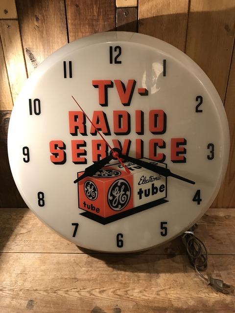 vintage TV radio service lighted wall clock (1)
