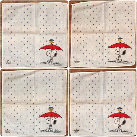 Vintage Hallmark Peanuts Snoopy Cotton Handkerchief