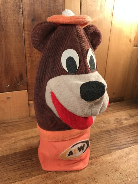 Vintage A&W Rootbeer Bear Hand Puppet Doll (1)