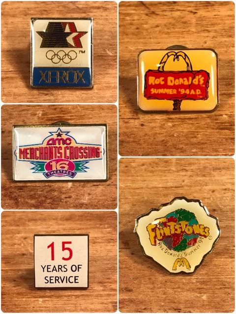 Vintage McDonald's Metal Pins (4)