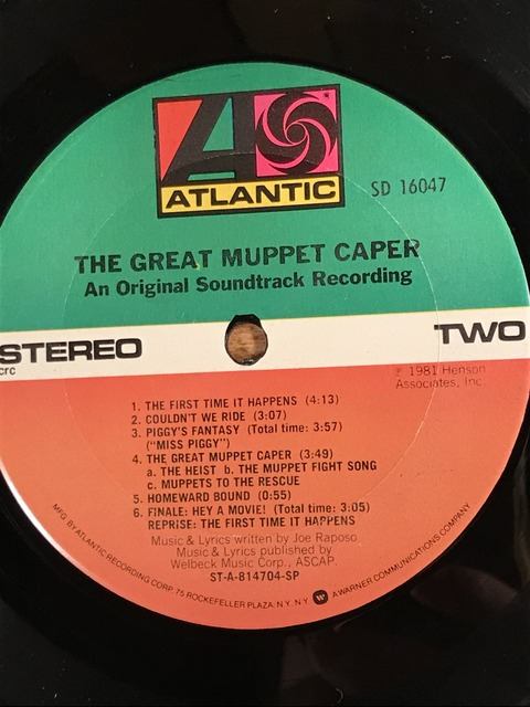 Vintage The Great Muppet Caper LP Record (11)