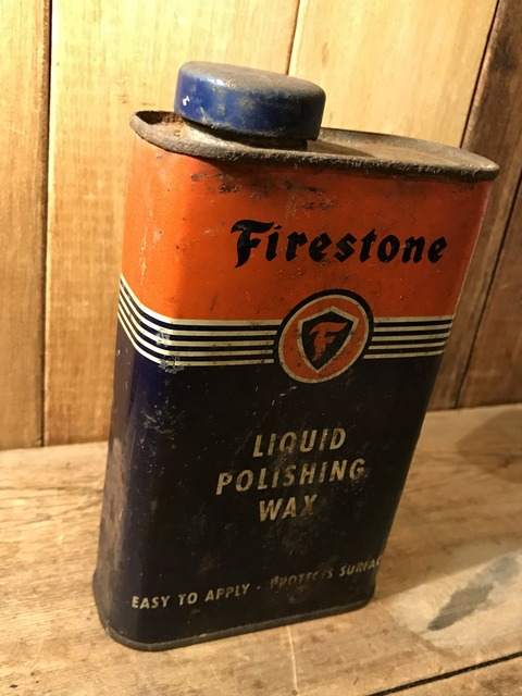 vintage firestone liquid polishing wax tin can (3)
