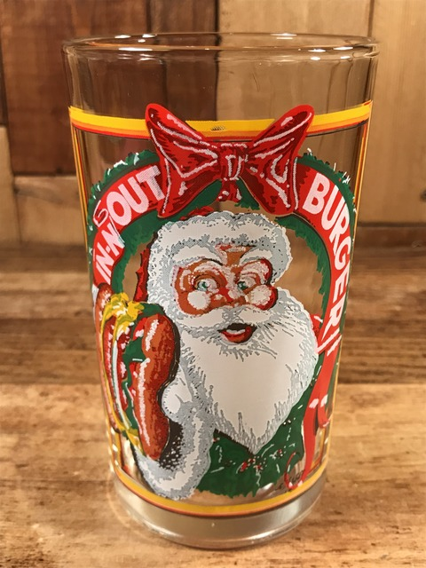 """Vintage In-N-Out Burger """"Santa Claus"""" Glass (1)"""