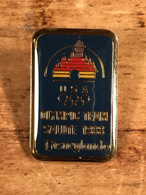 Vintage Disneyland Olympic Team Salute Enamel Pins (1)