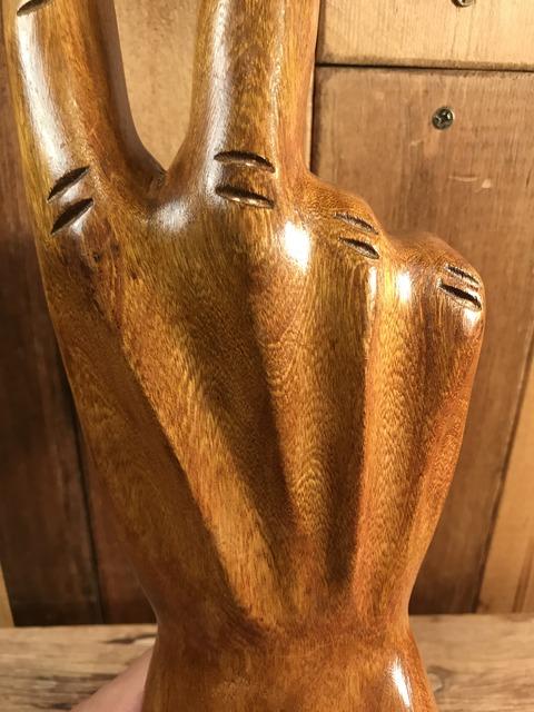vintage wooden peace sign figurine (147)