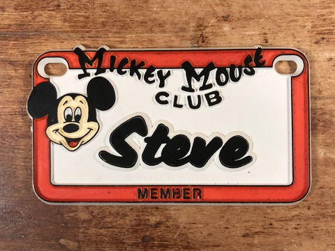 Vintage Disney Mickey Mouse Club Member Name Plate (4)