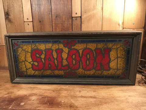 Vintage Saloon Stained Glass Style Bar Light Up Sign (2)