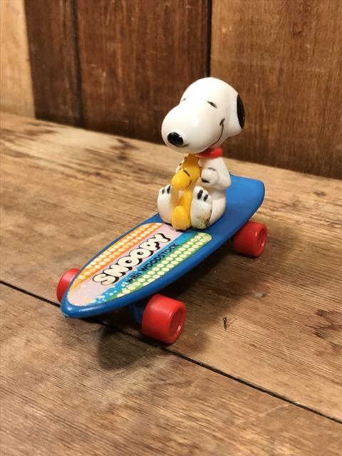 Vintage Aviva Snoopy & Woodstock Skateboard Toy (3)