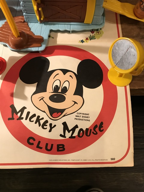vintage hasbro weebles mickey mouse club house playset  (2)