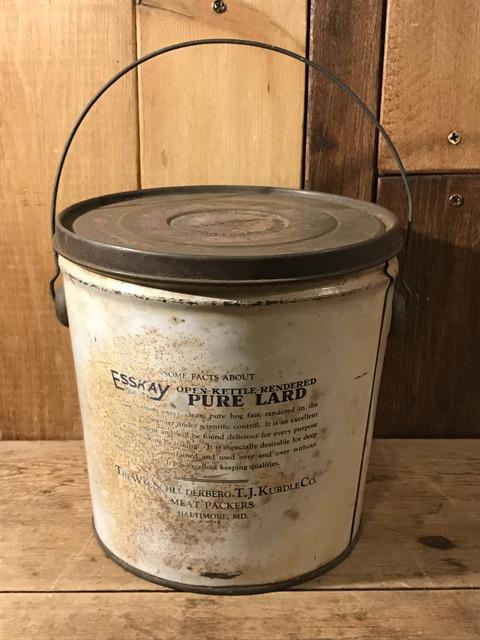 vintage esskay pure lard tin bucket (4)