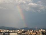 昇り虹↑(東山三十六峰南嶺)