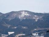 冬の束稲山