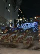 京都駅ビル大階段グラフィカルイルミネーション
