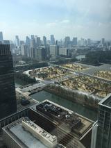 皇居前広場 (丸ビル35Fから. 2017/4/5)