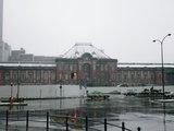 改装前の東京駅 首都圏に大雪が (2008年2月)