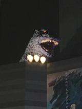 ゴジラ on the roof of the Hotel Gracery Shinjuku