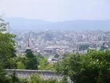 竜馬の墓前より京都市内を望む