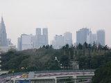 赤坂見付より見た新宿(右側に建設中のモード学園)、Feb.3rd,2008