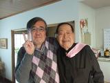 東邦大学同窓会長,理事.舳松洋先生と著者
