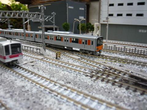 北秋日部駅(R)構内と東武50050系と20000系