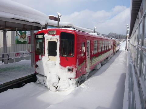 2018年1月撮影、角館駅にてAN8800形