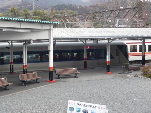2018年2月撮影、東武日光駅にてリバティその2