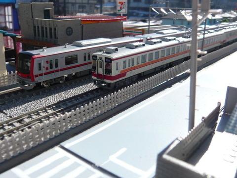 複線ボード(18')と東武70000系と区間快速47列車その3