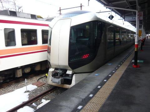 2018年2月撮影、東武日光駅にてリバティその1