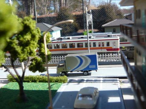 複線ボード(18')と区間快速47列車その1