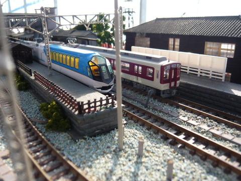 しらない温泉駅と近鉄50000系と9000系その1