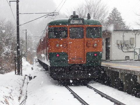 2017年3月撮影、大前駅にて115系その2