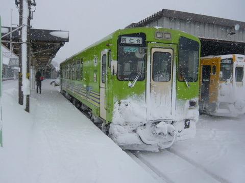 2018年1月撮影、鷹巣駅にてAN8800形