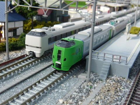 羽度大木駅(18')と789系と683系